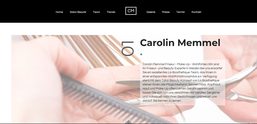 Beauty Homepage - Carolin Memmel